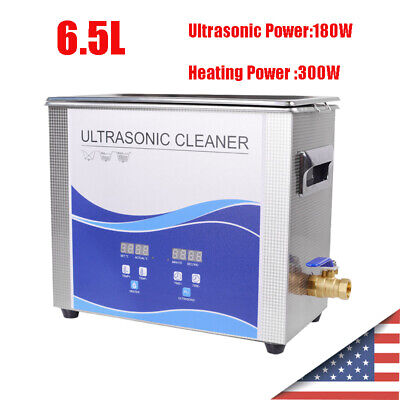6.5l 300w Heated Industrial Stainless Steel Ultrasonic Professional Cleaner Tool