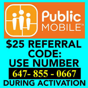 Public Mobile -- Free $25 when activating new account