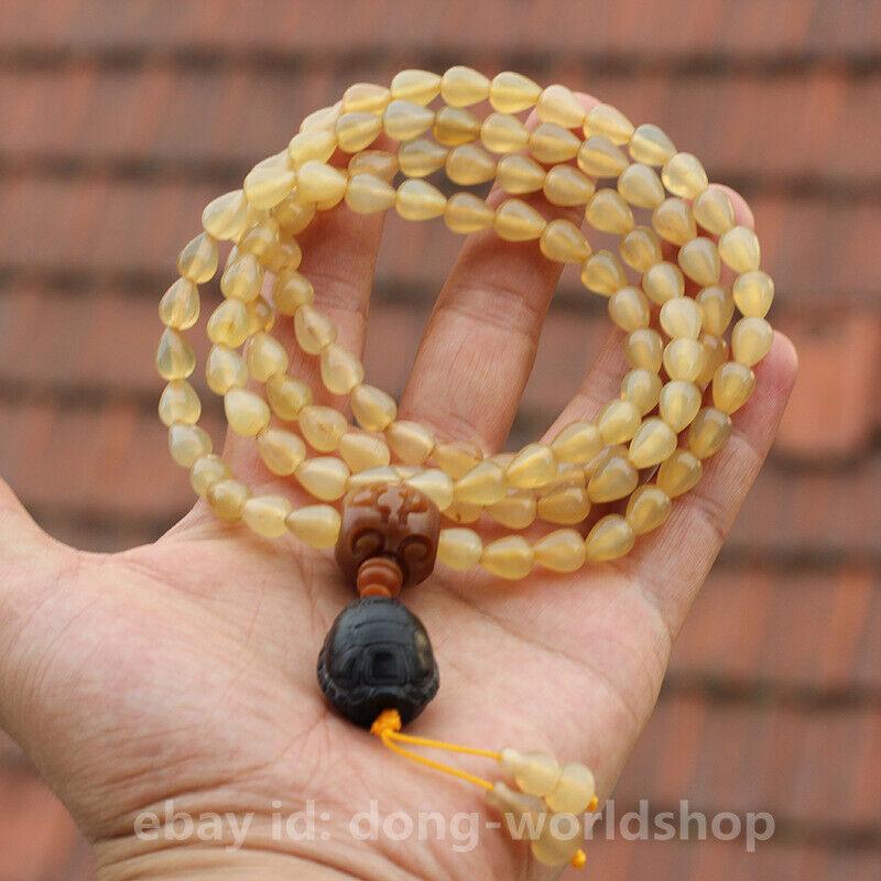 Tibet Sheep Horn Water-drop Buddha Beads/Oxen Horn Turtle Shell Pendant/Bracelet