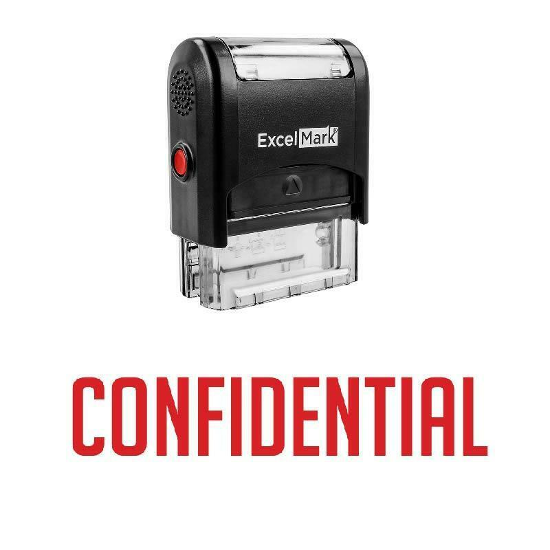 CONFIDENTIAL Stamp - Self-Inking / Red