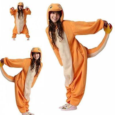 Pokemon Charmander Kigurumi Adult Animal bodysuit Cosplay Costume Pajamas (Pokemon Adult)