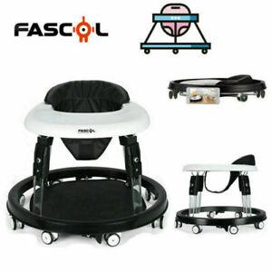 Fascol Baby Walker Folding Adjustable First Steps Push Along Bouncer Activity UK