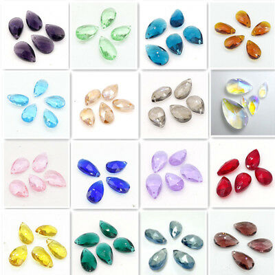 Lots Faceted Teardrop CRYSTAL glass loose beads DIY 16mm 22mm 28mm DIY 23 Color - Lots Faceted Glass Bead
