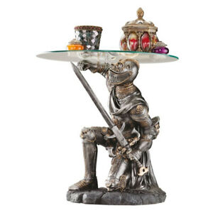 Battle Worthy Knight Sculptural End Table - NEW - ($300 Value)