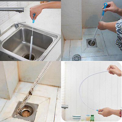 71cm Kitchen Craft Tool Long Thin Overflow Drain Flexible Sink Cleaning Brush