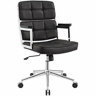 Modway Portray Highback Upholstered Faux Leather Office Chair In Brown