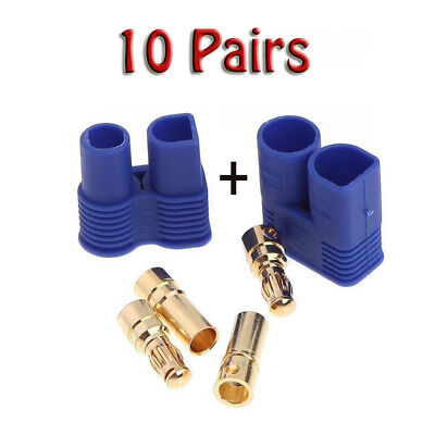 10Pairs EC3 Device Connector Plug Male Female + Gold Bullet Connector US STOCK