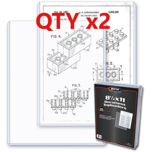 2 BCW 8.5 x 11 Photo /Print Hard Plastic Topload Holders Rigid Protector Sleeve