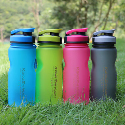 600ML Outdoor Sports Water Bottle For Bicycle Cycling Gym Tour Drinking BPA Free