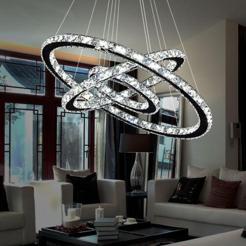Kristall LED Dimmbar Hängeleuchte Kronleuchter Pendelleuchte Deckenlampe Lüster