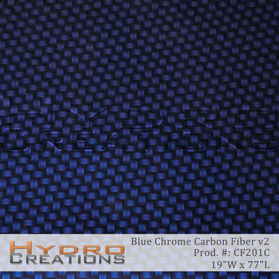 Hydrographic Film Hydro Dipping Water Transfer Blue Chrome Carbon Fiber V2