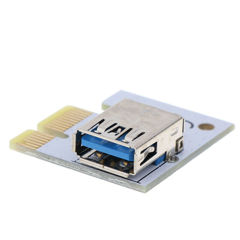 как выглядит USB 3.0 PCI-E 1X to 16X Extension Cable Mining PCI-E Extended Line Card Adap SL фото