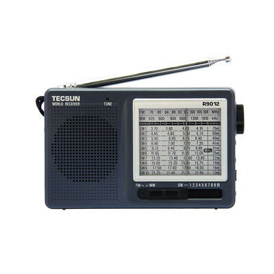 TECSUN R-9012 Portable Radio FM AM SW 12 Bands High Sensitivity Receiver