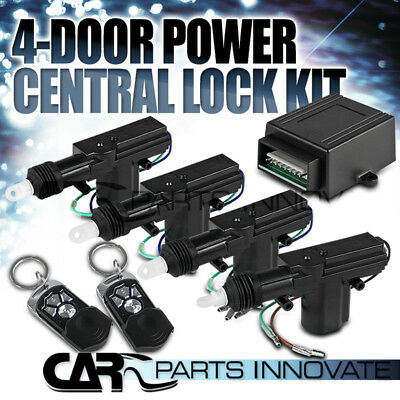 Car Central Power Door Lock / Unlock Remote Kit Keyless Entry For 2 / 3 / 4 Door