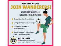 wanted: women/ladies competitive 11-a-side football players