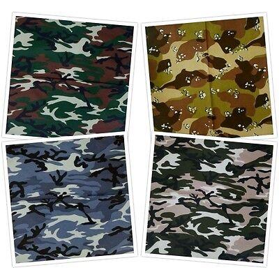 Cotton Desert Storm Camouflage - 100% COTTON CAMOUFLAGE ARMY NAVY MARINES DESERT STORM BANDANA  HEAD SCARF $2.50