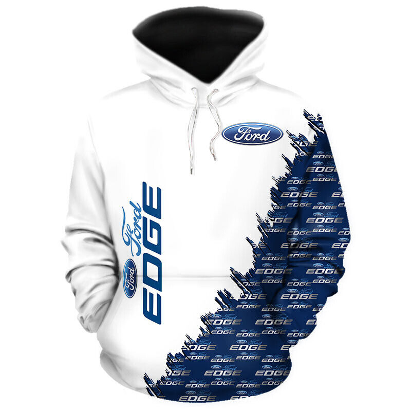 327cc802e 3D ALL OVER PRINTED FORD EDGE ZIPPED TOP DRAWSTRING HOODIE LONG SLEEVED  RACE CAR