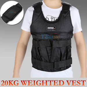 20KG Adjustable Workout Weight Weighted Vest Exercise Gym Training Fitness Sport