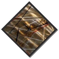 Statements2000 Metal Wall Clock Art Modern Abstract Gold Black Decor Jon Allen