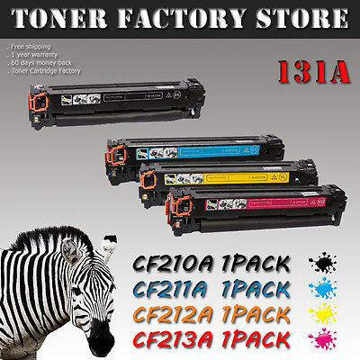 4 PK Color Toner Cartridge CF210A 131A Set For HP Laserjet Pro 200 M251nw M276nw