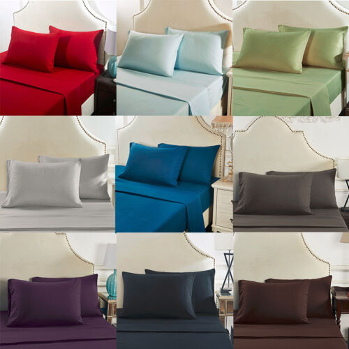 US Size Polyester Pillow Cases Cover Pillowcases Standard Qu