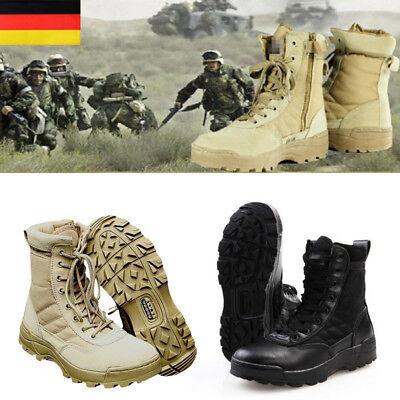 tischer Einsatz Boot Herrenkampfstiefel Army Militärstiefel (Schwarz Militär Stiefel)