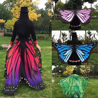 Butterfly Costume Women (Women Coverup Soft Fabric Butterfly Wings Fairy Nymph Costume Accessories )