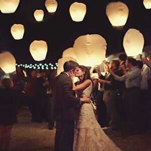 White Paper Chinese Lanterns Sky Fly Candle Lamp for Wish Party Strathcona County Edmonton Area image 1