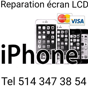 Reparation écran iphone 6:75$   6s:110$  6s+150$