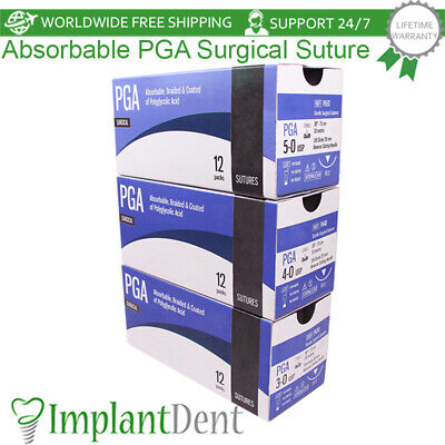 Dental Absorbable Braided Coated Surgical Pga Suture Implant Surgery
