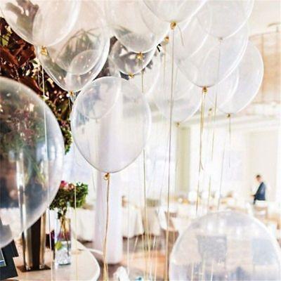 12Stück Runden Ballons Luftballons klar transparent - Elastischer Latex 12 Zoll
