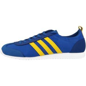 Adidas-Neo-VS-JOG-Zapatos-Zapatilla-deportiva-retro-azul-Yellow-Flux-gazellE
