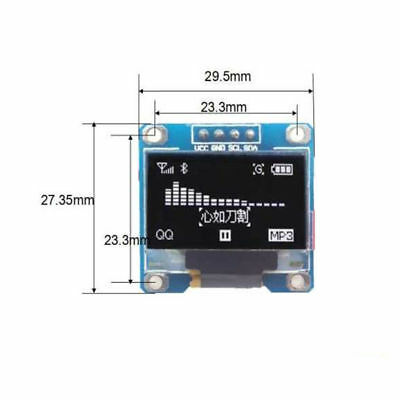 0.96 Yellow Blue I2c Iic 128x64 Oled Serial Lcd Led Display Module For Arduino