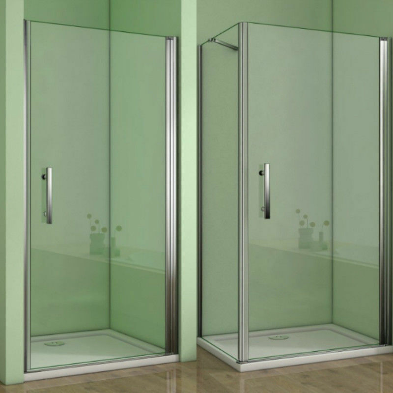 Duschabtrennung Duschkabine Drehtür Nischentür 6mm Nanoglas Duschwand Duschtür