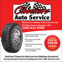 CHECKERS AUTO SERVICE LOOKING FOR A FULL TIME LICENSED MECHANIC.
