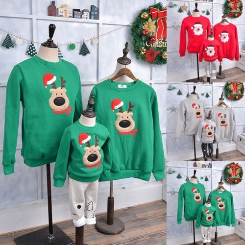 Christmas Family Matching Clothes Warm Sweater Baby Romper P