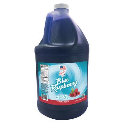 100% Fruit Juice Blue Raspberry Slushee Frozen Drink Mix-1 Gallon-NO SUGAR ADDED (Blue Juice Drink)