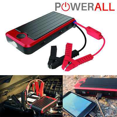 PowerAll PBJS12000RD DELUXE Portable Jump Starter, Power Bank LED Flashlight for sale  Shipping to South Africa