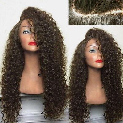 Damen Synthetisch Lange lockiges Haar Afrikanische Perücke Perücken Curly Natur