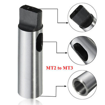 Lathe Milling Mt2 To Mt3 Arbor Morse Taper Reduce Reducing Adapter Drill Sleeve