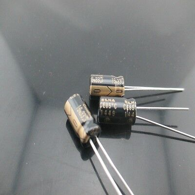 10pcs Elna Cerafine Roa 33mfd 16v 33uf 6.3x11mm Electrolytic Capacitor