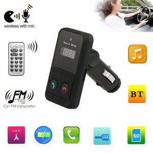Car Kit MP3 Player Wireless Bluetooth Hand free FM Transmitter