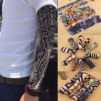 Nylon Kids Temporary Tattoo Sleeves Arm Stockings Tatoo Cool Unisex-18-Colors