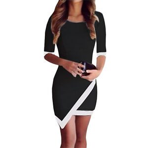 UK WOMENS CELEBRITY SEXY BANDAGE SHORT SLEEVE BODYCON MINI PARTY DRESS Size8-14