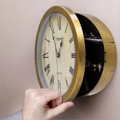 Secret Safe - Clock Safe Hidden Wall Secret Jewelry Security Money Cash Compartment Stash Box