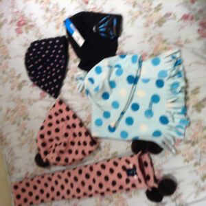 Girls hats and scarf sets