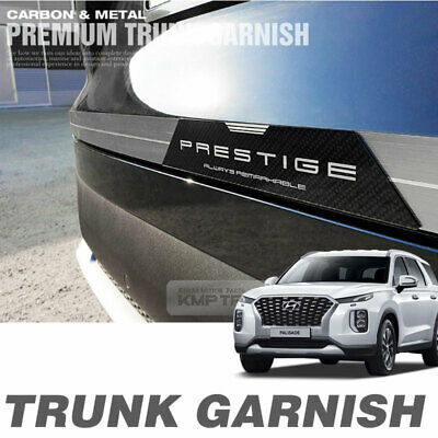 Metal Trunk Garnish Molding Carbon Point Trim for HYUNDAI 2019-2020 Palisade