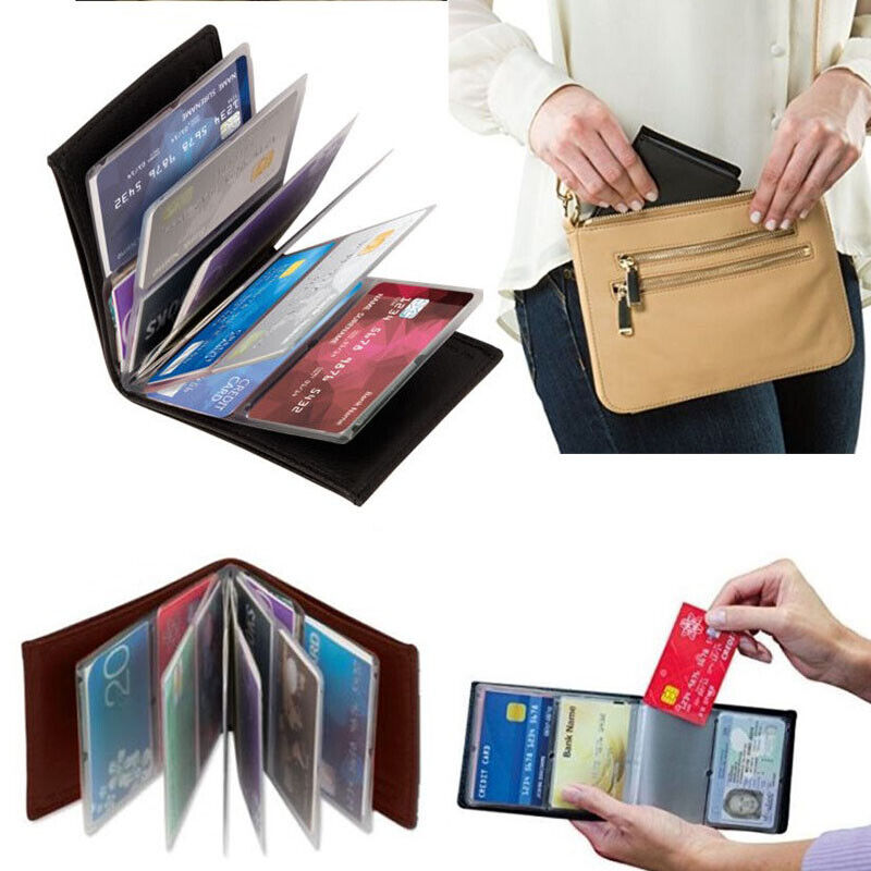 Amazing Slim RFID Wallets Black Leather New