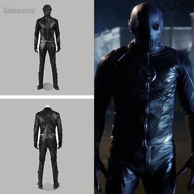 Hunter Zolomon Cosplay Costume  Zoom Jumpsuit Superman Outfit Full Suit  - Black Superman Suit Costume