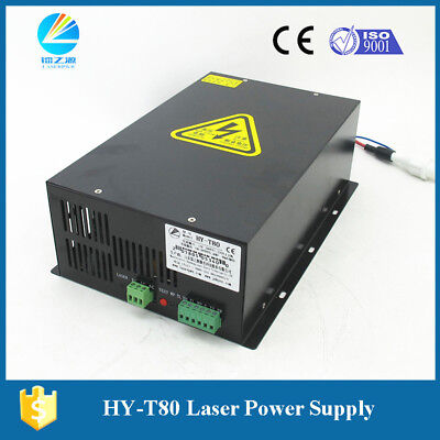 Co2 80watt Laser Cutting And Engraving Tube Power Supply Hy-t80